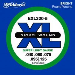 DAddario Bajo EXL220 5 cuerdas