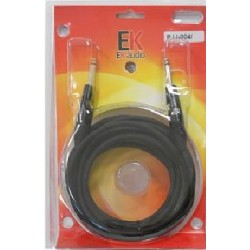 Cable para guitarra EK audio PJJ0046 Jack Jack rectos