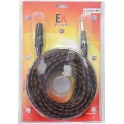 Cable Trenzado de Tela para Microfono SFXJ001 Jack XLR hembra 9 mts