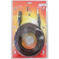 Cable Trenzado de Tela para Microfono SFXJ002 Jack XLR macho 9 mts