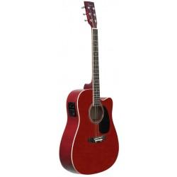 Guitarra Acustica Daytona A 411CE Rojo