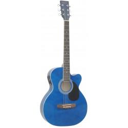 Daytona A 401CE Guitarra Acustica Azul Brillo
